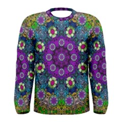 Colors And Flowers In A Mandala Men s Long Sleeve Tee