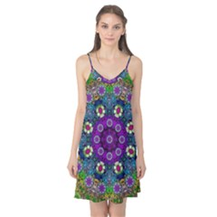 Colors And Flowers In A Mandala Camis Nightgown