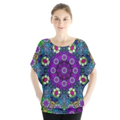 Colors And Flowers In A Mandala Blouse