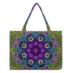 Colors And Flowers In A Mandala Medium Tote Bag