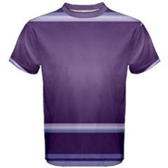 Purple Stripe Pattern Men s Cotton Tee