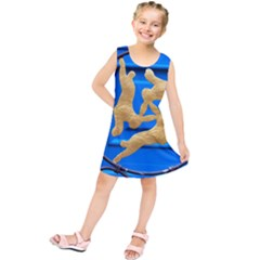 Animal Hare Hare Window Gold Kids  Tunic Dress