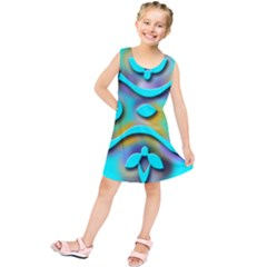 Background Braid Fantasy Blue Kids  Tunic Dress