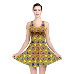 Background Tile Kaleidoscope Reversible Skater Dress