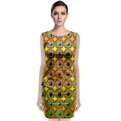 Background Tile Kaleidoscope Classic Sleeveless Midi Dress