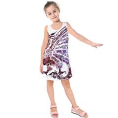 Beast Dragon Monster Animal Kids  Sleeveless Dress