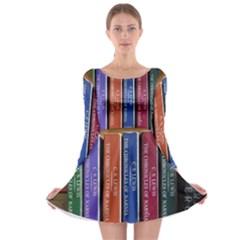 Books Reading Series Narnia Long Sleeve Skater Dress