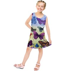Butterfly Painting Art Graphic Kids  Tunic Dress