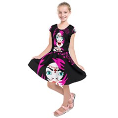 Vampire Gypsy Princess Kids  Short Sleeve Dress