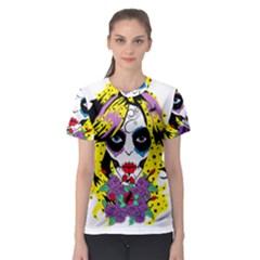 Gothic Sugar Skull Women s Sport Mesh Tee