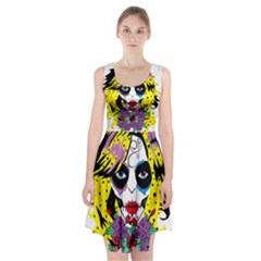 Gothic Sugar Skull Racerback Midi Dress