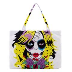 Gothic Sugar Skull Medium Tote Bag