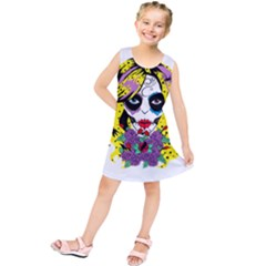 Gothic Sugar Skull Kids  Tunic Dress