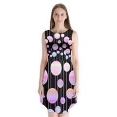 Pink Elegance  Sleeveless Chiffon Dress