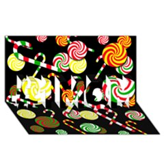 Xmas candies  #1 MOM 3D Greeting Cards (8x4)