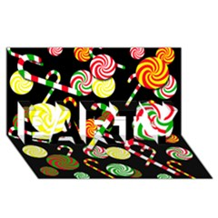 Xmas candies  PARTY 3D Greeting Card (8x4)
