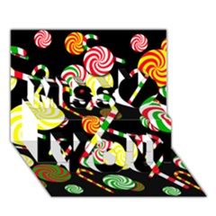Xmas Candies  Miss You 3d Greeting Card (7x5)