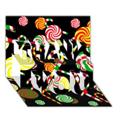 Xmas candies  THANK YOU 3D Greeting Card (7x5)