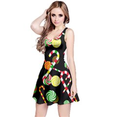 Xmas candies  Reversible Sleeveless Dress