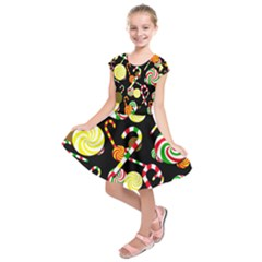 Xmas candies  Kids  Short Sleeve Dress