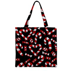 Christmas Candy Canes  Grocery Tote Bag