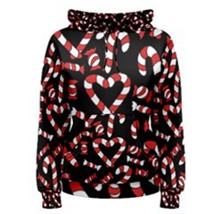 Christmas Candy Canes  Women s Pullover Hoodie