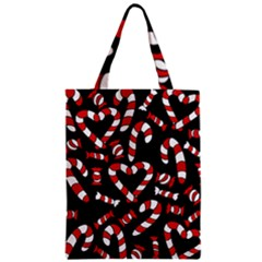 Christmas Candy Canes  Zipper Classic Tote Bag