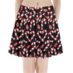 Christmas Candy Canes  Pleated Mini Skirt