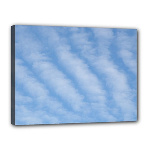 Wavy Clouds Canvas 16  x 12