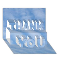 Wavy Clouds THANK YOU 3D Greeting Card (7x5)