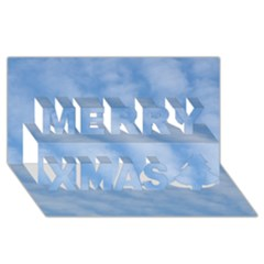 Wavy Clouds Merry Xmas 3d Greeting Card (8x4)