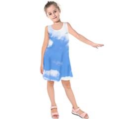 Clouds and blue sky Kids  Sleeveless Dress