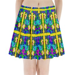 Shimmering Landscape Abstracte Pleated Mini Skirt