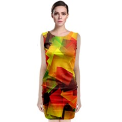 Indian Summer Cubes Classic Sleeveless Midi Dress