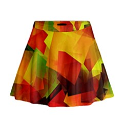 Indian Summer Cubes Mini Flare Skirt