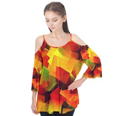 Indian Summer Cubes Flutter Tees