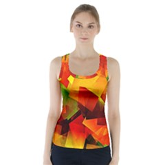 Indian Summer Cubes Racer Back Sports Top
