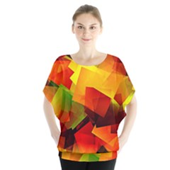 Indian Summer Cubes Blouse