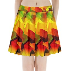 Indian Summer Cubes Pleated Mini Skirt