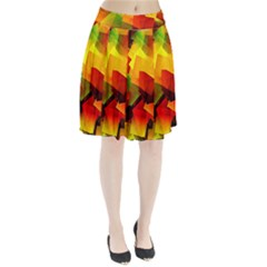 Indian Summer Cubes Pleated Skirt