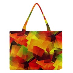Indian Summer Cubes Medium Tote Bag