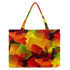 Indian Summer Cubes Medium Zipper Tote Bag