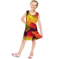 Indian Summer Cubes Kids  Tunic Dress