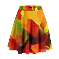 Indian Summer Cubes High Waist Skirt