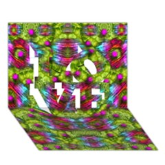 Freedom In Colors And Floral Love 3d Greeting Card (7x5)
