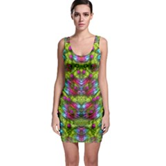 Freedom In Colors And Floral Sleeveless Bodycon Dress