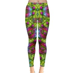 Freedom In Colors And Floral Leggings
