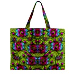 Freedom In Colors And Floral Zipper Mini Tote Bag