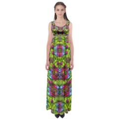 Freedom In Colors And Floral Empire Waist Maxi Dress