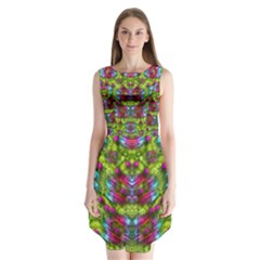 Freedom In Colors And Floral Sleeveless Chiffon Dress